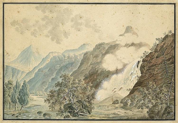 Weibel, Jakob Samuel: Der Pissevache-Wasserfall