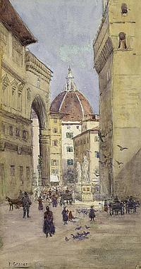Graner, Ernst: Die Piazza della Signoria in Florenz