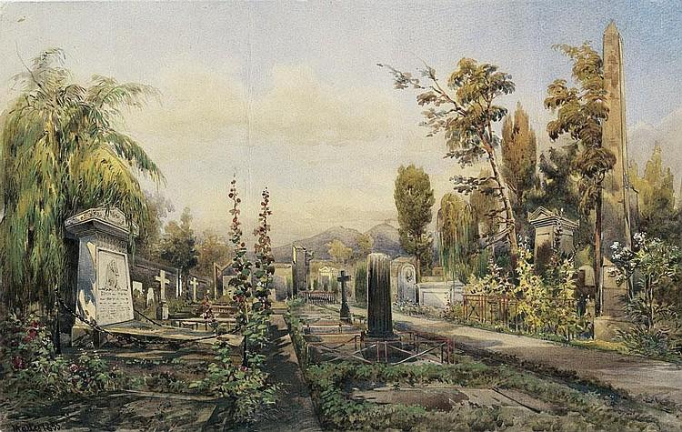 Mattei, Pasquale: Friedhof bei Neapel