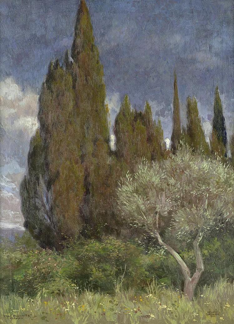 Schlösser, Richard: Im Park der Villa Falconieri