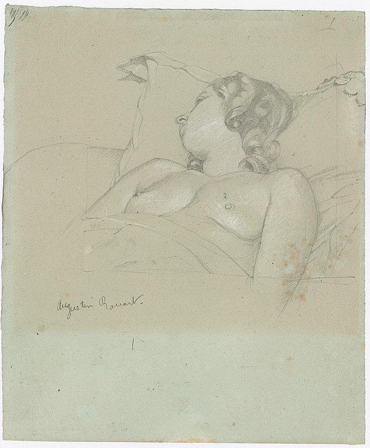 Rouart, Augustin: Schlafende junge Frau