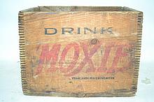 Vintage Moxie Crate Good to very good condition on this mid-century piece of Americana.