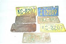 Antique & Vintage License Plates (6) A great lot of 5 Az license plates and 1 Alaska plate.