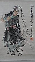 Chinese Chinese Water Color Pinting By Famours Artist H