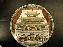 A Plate with Forbiden City Pictue and prinses