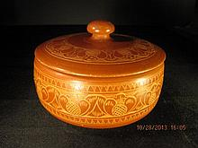 Chinese Red Glaze Jar with Lid