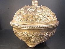 Chinese Qing Qien Long Big Bowl with Lid