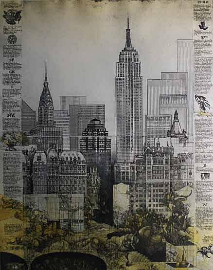 Jorg Schmeisser (born 1942) Empire State Building 1981 screenprint