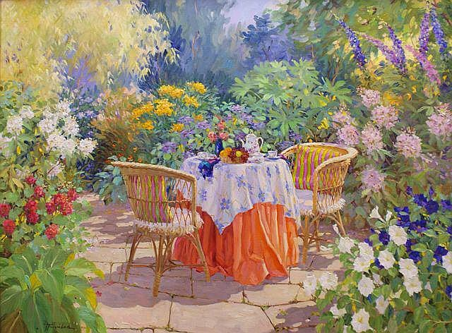 Jose Trinidad (Canadian, born 1924), Tea Party