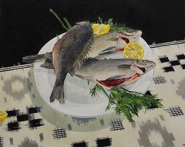 Cressida Campbell (born 1960), Silver Perch 2007