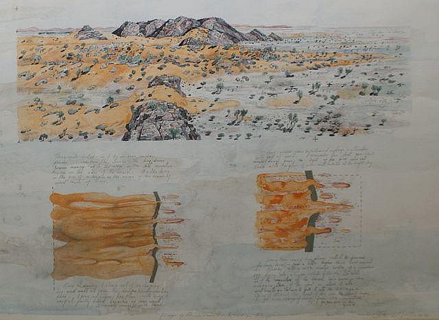 John Wolseley (born 1938), Edge of the Desert - Roedinga Range 1992/1993