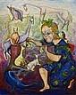 Elizabeth Vassilieff (circa 1917-2007), Child with Animals, Elizabeth Vassilieff, Click for value
