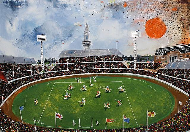 Bernard Hesling (1905-1987), Polo Match at Sydney Showground 1972