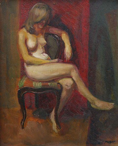 Paul Delprat (born 1942), Seated Nude