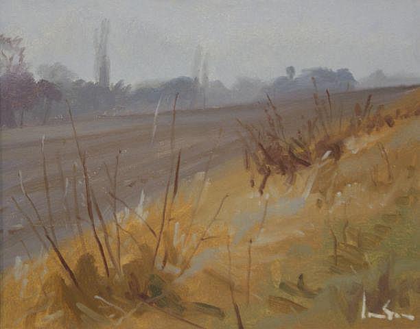 Graeme Inson (1923-2000), Frosty Field Loire Valley 1980