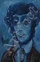 Michael Kmit (1910-1981) Poet 1970-1971 oil on board, Michail Kmit, Click for value