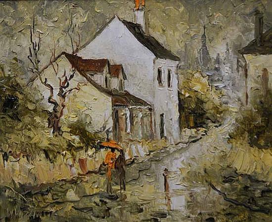 Wilmotte Williams (1916-1992) Rain oil on canvas board