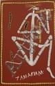 Paddy Fordham Wainburranga (circa 1930-2006) Dancing Mimi Man with Important Men's Clapsticks acrylic on canvas