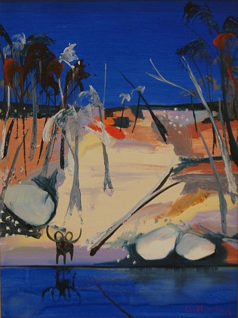 Arthur Boyd (1920-1999) Shoalhaven with Black Ram 1993 oil on board