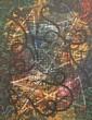Weaver Hawkins (1893-1977) Rhythmic Conception 1959 oil on board