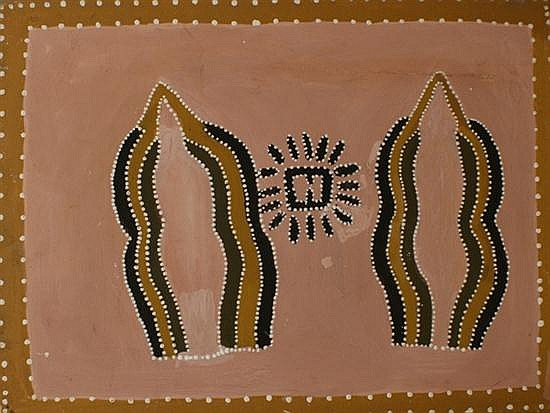 Queenie McKenzie (1916-1998) (Untitled) 1981 ochre on canvas