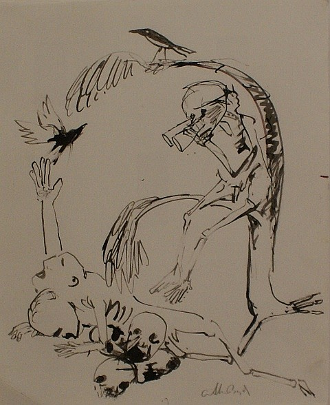 Arthur Boyd (1920-1999) The Signal Corps (Mars Series) (1988) ink