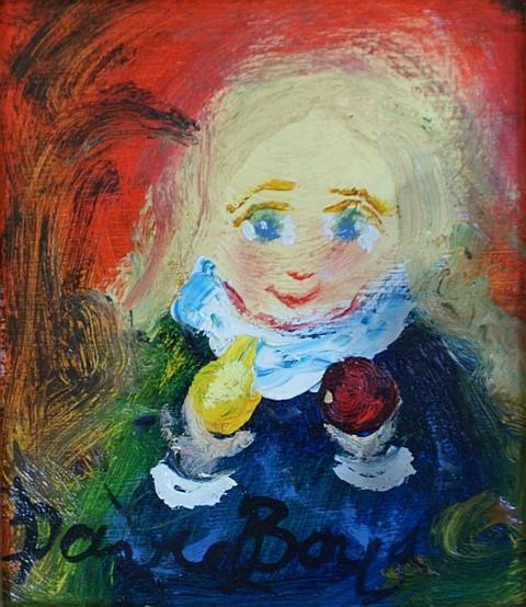 David Boyd (1924-2011) (Untitled) (circa early 2000s) oil on card
