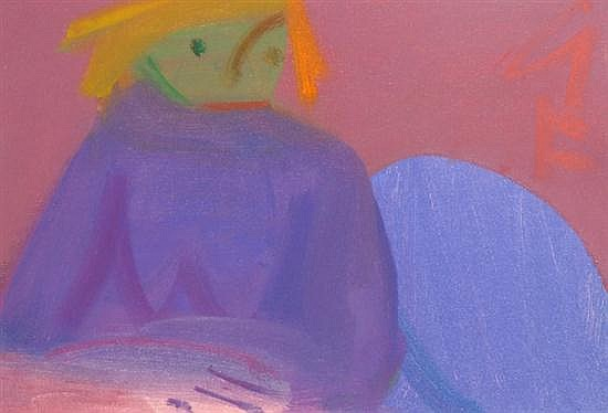 Sam Fullbrook (1922-2004) Girl in Lilac oil on canvas