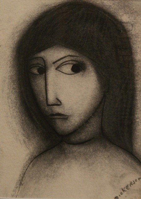 Robert Dickerson (born 1924) (Untitled) charcoal