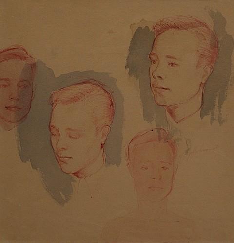 Jeffrey Smart (born 1921) (Untitled) ink and wash