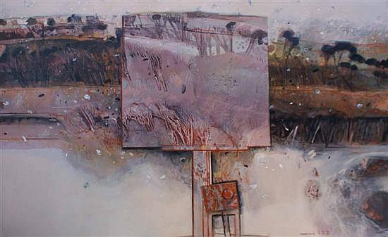 Margaret Woodward (born 1938) Painting in First Snow, Guthega 1986-1987 oil on canvas