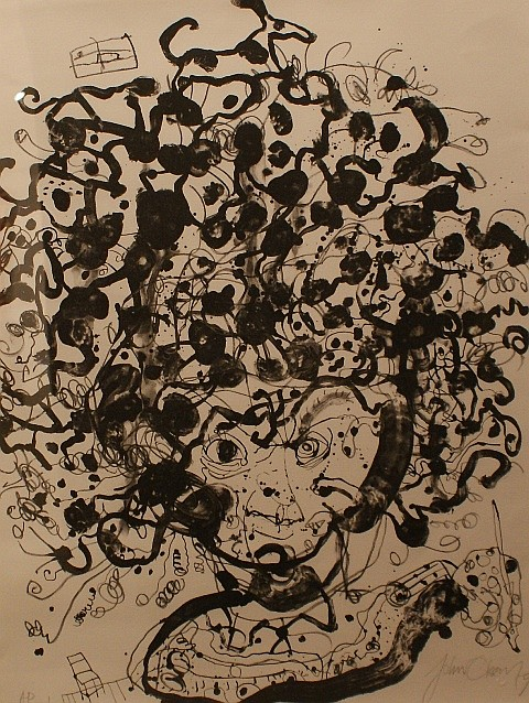 John Olsen (born 1928) Brett Whiteley 1979 lithograph edition of 100