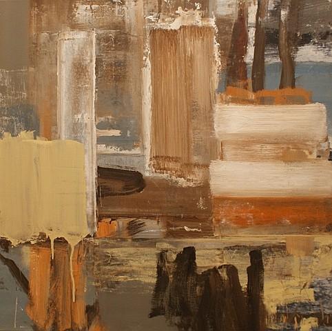Brett McMahon (born 1966) Scrape 1999 oil on canvas