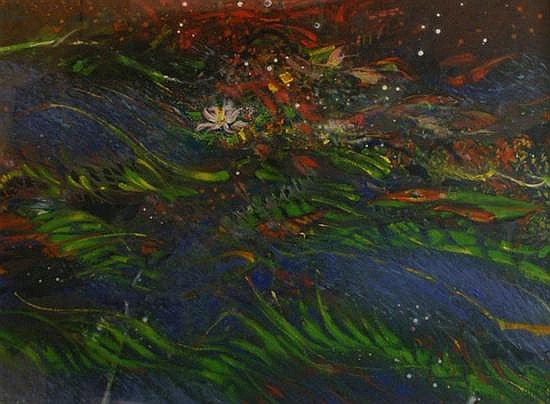Tom Gleghorn (born 1925) Beneath the Canopy: Rainforest Floor No. 2 acrylic on paper