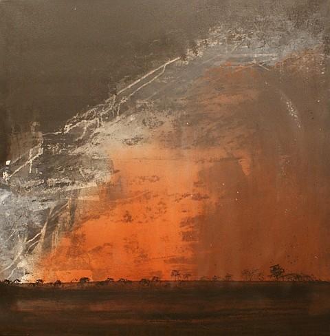Gail Naden Dust Storm, Burran 2005 acrylic on canvas