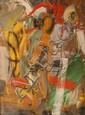 Brett McMahon (born 1966) Crossing Figure 1993 oil on canvas