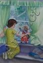 O'Harris. Pixie. Marmaduke the Possum and Margaret. watercolour