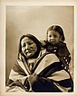 EAGLE FEATHER  (Wanbli Shun) & Grandchild, Oglala Lakota, 1899.