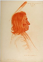 CHIEF RED CLOUD, Sioux, 1897 by E. A. Burbank.