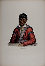 PADDY CARR, Creek Indian Interpreter. McKenney & Hall litho