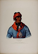 SE_LO_TA Creek Indian Chief. Colored litho McKenney & Hall