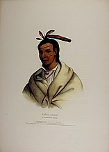 A_MIS_QUAM, Winnebago Indian. McKenney & Hall color litho