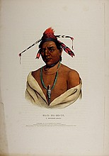 MAR-K-ME-TE Menomene Indian. McKenney & Hall color litho