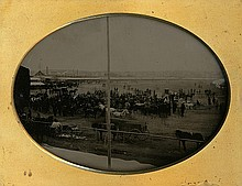 AT THE RACETRACK, 1/4 plate ambrotype