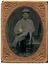 CHINESE MAN AS MODERN ART, 1/4 plate tintype