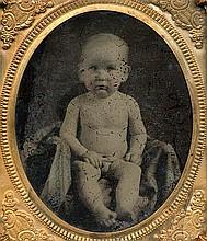 NAKED BABE. tintype