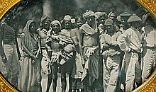 WORKERS IN INDIA, ¼ plate daguerreotype.