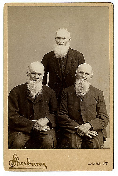 Three men with similar beards.