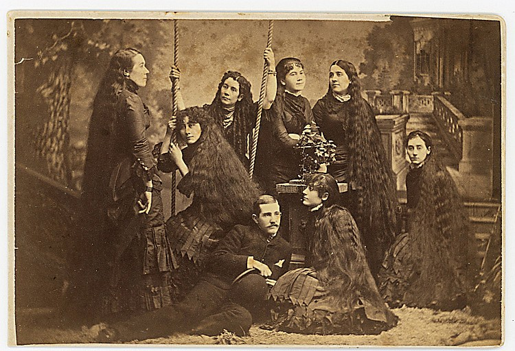 The Sutherland Sisters and their long tresses.