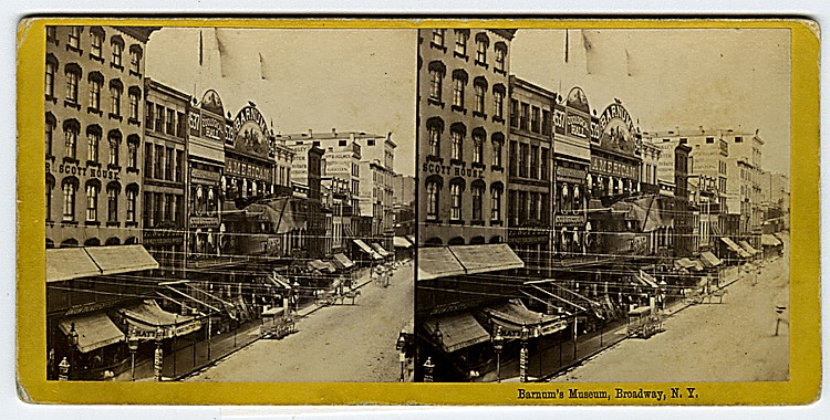 Barnum's Museum in New York.